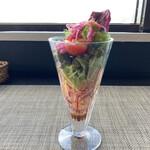 安来グランパ - お野菜パフェ(横から)