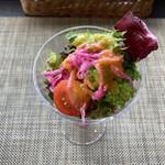 安来グランパ - お野菜パフェ(上から)