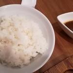 ステーキハウス牛和鹿 - ごはん、1口カレー