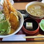 13857051 - 天然大車海老天丼蕎麦膳