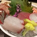 138577220 - ☆向付 【三崎マグロ、地魚2種】