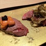 138577224 - 和牛握り鮨食べ比べ