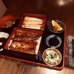 虎ノ門 うなぎのお宿 - 大井川御膳(肝串付き)6400円