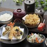 天ぷら つな八 - 季節のランチ 秋野菜定食