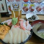 138593279 - 9番(生ウニ・カニ・ホタテ)の三色丼2,800円