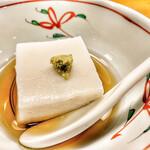 にしぶち - 里芋豆腐へミルキーな優しい味