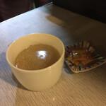 グリル梵 - 本気のコンソメスープとカラシ