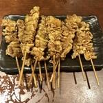 水炊き・焼鳥・鶏餃子 とりいちず - 「秘伝かわ串10本+1本」(700円)