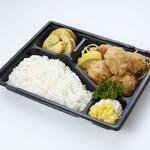 洋食&ビール 自由亭 - 鶏唐揚げ弁当