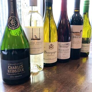 常時7種類のグラスワイン♪