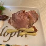 ガロパン フレンチレストラン - ロースハム。自家製かな?