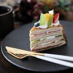 マルカッサン - 料理写真:2020年10月再訪:フルーツミルクレープ☆