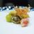 美かさ - 料理写真:海老の足、銀杏、むかご、栗、フルーツトマトの素揚げ
