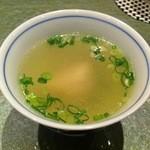 たまひで いちの - 軍鶏コラーゲンスープ(そらまち膳3900円)