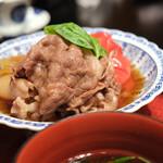 婆娑羅 - 牛しぐれ煮 トマトすき焼き仕立て