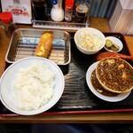 堂山食堂 - 麻婆豆腐セット