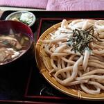 うどんや 藤 - 肉きのこ もりうどん  (中盛り&肉増し)