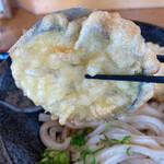 うつ輪 - 肉厚でジューシィな水なすの天ぷら!
