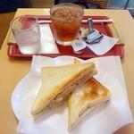 スリーコンカフェ - タマツナ朝セット290円