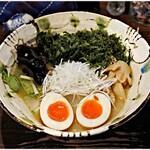 いち井 - 塩ラーメン+味玉+岩海苔+海老ワンタン 900+100+100+200円