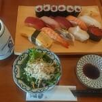 築地玉寿司 - おすすめにぎり¥1380+税
