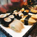 亀すし - ネギトロ、サヨリ、太刀魚、玉子、雲丹