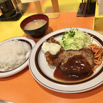 キッチンABC - セットのライスと味噌汁