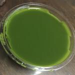 藤菜美 - 抹茶味の濃いプリンプリンした寒天でした。