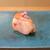 鮨処 あさの川 - 料理写真:金目鯛(焼津)、しその花載せ