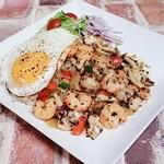 うさぎワンダーワールド - 料理写真:シーフードのガパオライス
