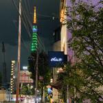 138685605 - キャンティ看板越しの東京タワーが綺麗✨