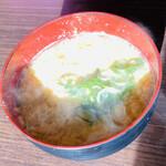 天ぷら 大吉 - たまごの味噌汁 コレ美味しい♡ あさり汁より…(笑)