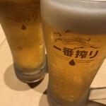 根岸家 - ドリンク写真:まずはビール