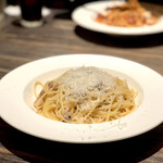 grigio la tavola - 自家製パンチェッタとパルミジャーノチーズのスパゲッティ