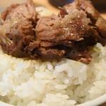 三河開化亭 - 肉塊をオンザライス
