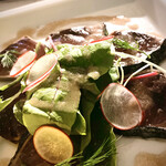 138723450 - カツオと旬野菜のマリネ シェリービネガードレッシング                       まさに素材の良さを感じる一品!