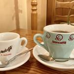 イル ポネンティーノ - 可愛らしいカップ  エスプレッソにアメリカンコーヒー