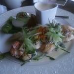 13873220 - 海老と帆立貝のムニエル海鮮茶碗蒸し添え 1260円