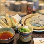 手打ちそばと朝宮茶の店 黒田園 - 天もり¥1780