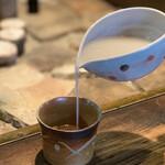 手打ちそばと朝宮茶の店 黒田園 - 蕎麦湯