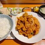 高田屋食堂 - 酢鶏定食