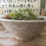 南天 - 肉そば(側面)