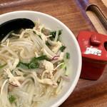 ペンシーズ キッチン - 朝フォー520円、ナンプラー投入