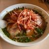 ホルモン横丁 - 料理写真:ねぎみそチャーシュー、シャコバサボテンみたい