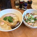 メンヤ モクモク - 料理写真:MOKUMOKU丼ぶりセット(もくもく濃厚ラーメン、チャーシュー丼)