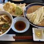 手打うどん 寿庵 - トリオ肉汁 1,400円