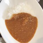 中島亭 - 焼豚が崩して入った特製カレー(半カレー)