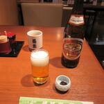 近江家 - ビール・お通し