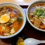 吉田麺業 - 料理写真:八宝丼セット(ミニきしめん付をきしめん大盛)(税込980円)