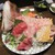 さかなやま - 料理写真:鯛姿造りとお造り5点盛り合わせ:鯛お造り、まぐろ、鰤、サーモン、鯵、鰹。     2020.10.16